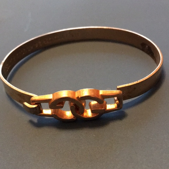 81e945dbddc Gucci Jewelry - Vintage GUCCI Hook On Bangle Plated in 24k Gold